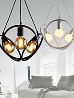 3 Lights Chandeliers / Pendant Lights Traditional/Classic / Retro Bedroom / Study Room/Office / Hallway Metal