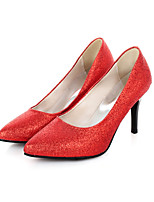 Women's Shoes Glitter / Leatherette Stiletto Heel Heels Heels Outdoor / Casual Black / Red / Silver / Gold