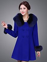 Damen Mantel  -  Leger Langarm Wolle
