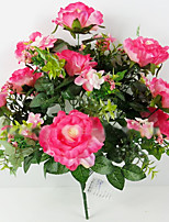 18 Heads of Alice Rose in Silk Cloth Artificial Flower for Wedding Decoration (1 Piece)