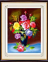 diy ponto de cruz kit diamante, floral 56 * 68