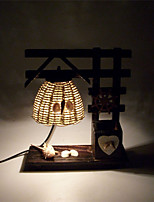 Retro Wooden Pen With A Fine Home Decoration Crafts Table Lamp Bedroom Bedside Personalized Ornaments