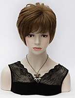 Unqiue Short Layered Short Straight Synthetic Hair Flaxen Full Bang Harajuku Lolita Synthetic Purecas Wig