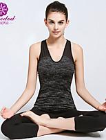 SMOEDOD ® Yoga Tops Transpirable / Antiestático / Capilaridad / Compresión Eslático Ropa deportiva Yoga / Pilates / Fitness / Running