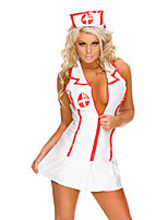 Woman's Backless Sleeveless Sexy Nurse Clothes Cosplay Costume