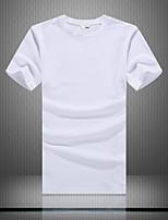 Men's Short Sleeve T-Shirt , Cotton Casual Pure