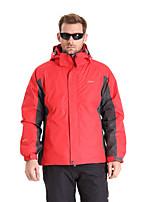Clothin Men Outdoor Convertible Hooded 3in1 Windbreaker Ski Snow Parka Jacket