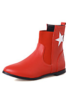 Women's Shoes Low Heel Pointed Toe / Closed Toe Boots Office & Career / Dress / Casual Black / Red