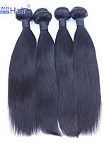 Fabrikverkaufs 4pcs viel brasilianisches reines Menschenhaar Webart geraden Haarverlängerungen,