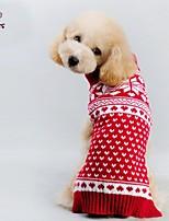 Casacos / Súeters - Inverno - Vermelho - Fantasias / Natal - de Mistura de Material - para Cães / Gatos - XXS / XS / S / M