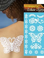King Horse® India  Tattoo Stickers Henna Non Toxic/Hawaiian/Waterproof Flower Series Paper 5pcs 20.5*10cm