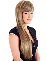 New Fashion Lady Popular High Temperature Silk  Long Straight Wigs Can Be Very Hot Can Be Dyed Color Picture