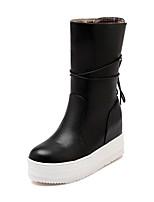 Women's Platform Round Toe / Closed Toe Boots