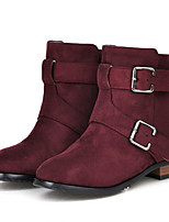 Calçados Femininos - Botas - Botas da Moda - Salto Baixo - Preto / Azul / Amarelo / Roxo - Courino - Ar-Livre / Social / Casual
