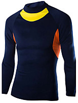Men's Long Sleeve T-Shirt , Cotton Blend Casual / Sport Print / Pure