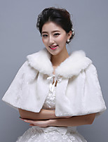 Ivory Sleeveless Wedding Wraps Imitation Cashmere Boleros