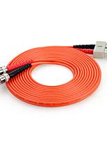 shengwei® st (UPC) -sc (UPC) multimode âme double fibre cordon de raccordement 3m / 5m / 10m