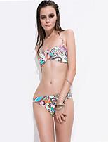 Bikinis Aux femmes Géometrique Sans Armature / Soutien-gorge Rembourré Licou Polyester