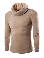 Men's Fashion Solid Warm Soft Turtlenecks Casual Outdoor Slim Fit Pullover Sweater;Causal/Solid
