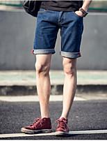 Men's Pure Sleeveless Short Pant , Cotton / Denim Casual / Work