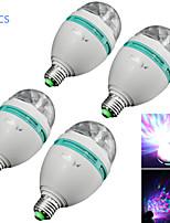 youoklight® 4pcs E27 Mini bola de cristal rgb efecto de luz LED de 3W rotación iluminación del escenario para la fiesta de discoteca dj