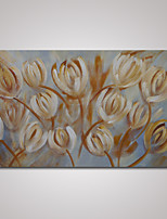 Hand-Painted Modern Abstract Tulip Flowers Oil Painting on Cavnas Ready to Hang