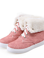 Women's Shoes Low Heel Round Toe Boots Casual Pink / Beige