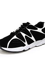 Da uomo-Sneakers-Tempo libero / Casual / Sportivo-Comoda-Piatto-Tulle-Nero / Blu / Bianco