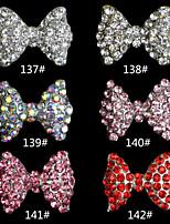 10pcs  Bowknot  Fashion  Finger Nail Jewelry Alloy/Crystal Skeleton  Nail Stickers