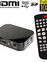 rsh ™ vga-uitgang mini volledige HD1080p media player met HDMI / av / sd / usb h.264 hevc harde schijf met display hd media player