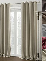 TWOPAGES Madison Collection Solid Insulated Thermal Blackout Polyester Curtain Drape (One Panel)