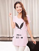 Maternity Round Neck Layered T-shirt , Cotton Short Sleeve