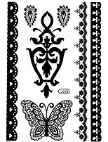 BlackLace Henna Body Temporary Sexy Tattoos Sticker For Women,Teens,Girls(7 Patterns in 1 Sheet) J008