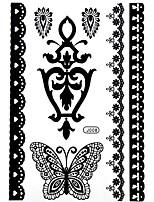 1 - Autres - Noir - Motif - 21*14.8cm - en Papier - Tatouages Autocollants - Bluezoo - Homme / Girl / Femme / Adulte / Adolescent