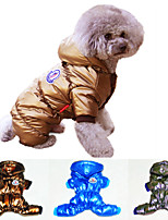Metallic Colors Pets Sportswear Jumpsuit  Winter Coat for Dogs and Cats