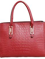 Women PU Doctor Shoulder Bag / Tote - Blue / Red / Black / Fuchsia