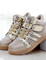Girls' Shoes Outdoor / Dress / Casual Comfort Tulle Fashion Sneakers Pink / Gold