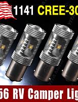 4 X RV Camper Genuine Cree 30W White 1156 BA15S LED Tail Backup Light 1141 1003