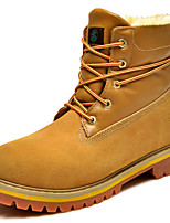 Women's Shoes Suede Flat Heel Snow Boots / Combat Boots Boots Outdoor / Casual Yellow / Taupe
