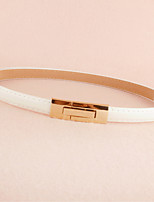 Female Models Decorative and Thin Belts,Simple Patent Leather Buckle Adjustable Belt Crony Wild