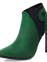 Women's Shoes Velvet Stiletto Heel Fashion Boots Boots Outdoor / Casual Black / Green / Red / Gray