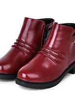 Chaussures Femme - Extérieure / Habillé / Décontracté - Noir / Marron / Rouge - Talon Bas - Bottes à la Mode - Bottes - Similicuir