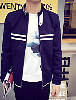 Men's Long Sleeve Jacket , Polyester Casual / Plus Sizes Pure