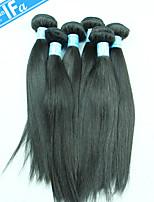Malaysian Straight Virgin Hair 5Pcs/Lot Wholesale Virgin Human Hair Extension Color 1B