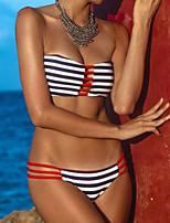 Bikini Da donna Monocolore Senza bretelline A fascia Poliestere / Elastene