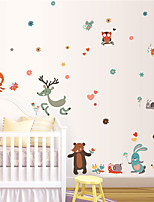 Wall Stickers Wall Decals Style Cartoon Animal Deer PVC Wall Stickers