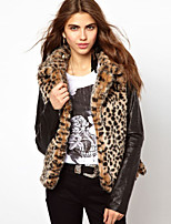 Women's Autumn Winter New Fashion Leopard grain Imitation fur Thick Warm Sexy Plus Size Coat