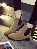 Women's Shoes Sell Well Korean Style Forsted Chunky Heel Comfort Boots Dress / Casual Black / Brown / Gray