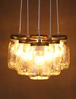 E27 11*21CM Line 1M Led Ikea Creative Wishing Bottle Glass Sweet Children Room Three Personality Droplight Lamp
