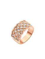 Women's Alloy Ring Cubic Zirconia Alloy